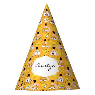 Emoji Silly Yellow Faces Party Hat