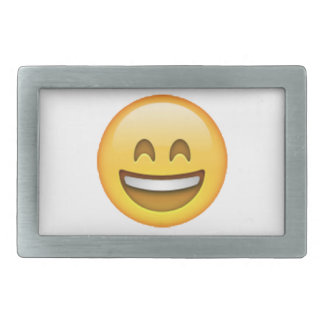 Emoji - Smile Closed Eyes Rectangular Belt Buckles