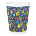 Emoji Smile Denim Girls Birthday Party Cups