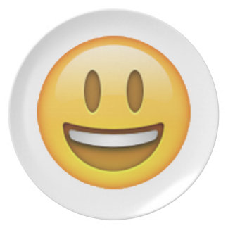 Emoji - Smile Open Eyes Plate