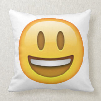 Emoji - Smile Open Eyes Throw Pillow