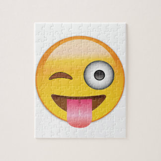 Emoji - Smiley Face With Tongue Jigsaw Puzzle