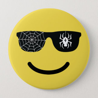 Emoji Smiling Face with Sunglasses Funny Halloween 4 Inch Round Button
