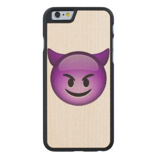 Emoji - Smiling Imp Carved Maple iPhone 6 Case