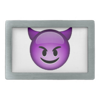 Emoji - Smiling Imp Rectangular Belt Buckles