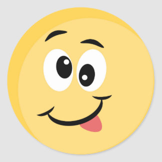 Emoji Sticker with Happy Face