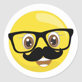 Emoji Stickers With Mustache and Glasses