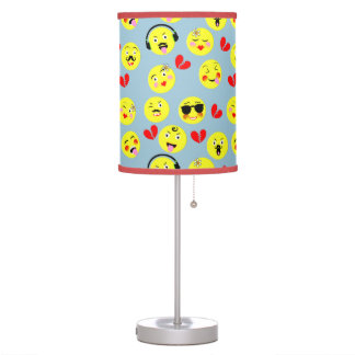 Emoji Style Fun Cute Trendy Smiley Faces Table Lamp