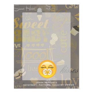 Emoji Sweet Baby ID231 Custom Letterhead