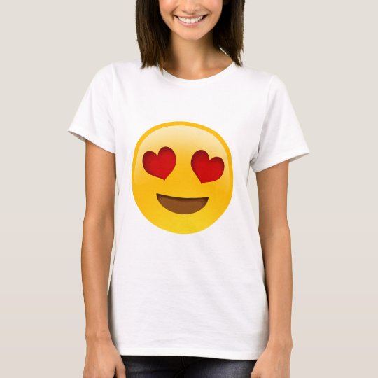 Emoji T-Paita Heart Eyes T-Shirt