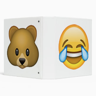 Emoji - Tears Of Joy 3 Ring Binder