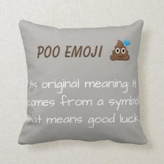 emoji throw pillow