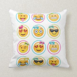 "Emoji Throw Pillow 16"" x 16"""