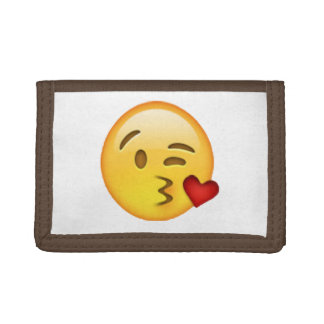 Emoji - Throwing Kiss Trifold Wallet