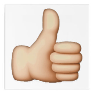 Emoji - Thumbs Up Acrylic Print
