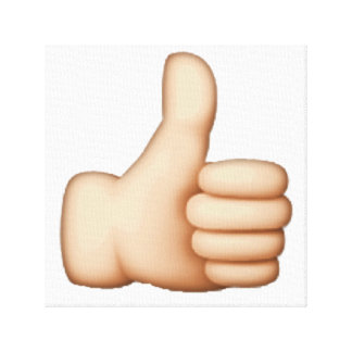 Emoji - Thumbs Up Canvas Print