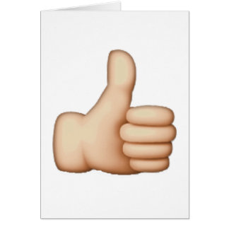 Emoji - Thumbs Up Card