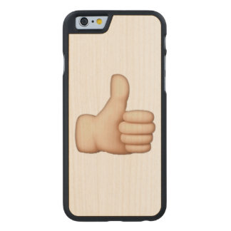 Emoji - Thumbs Up Carved Maple iPhone 6 Case