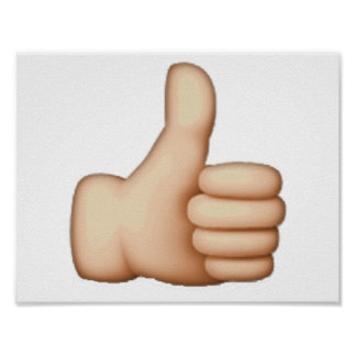 Emoji - Thumbs Up Poster