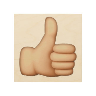 Emoji - Thumbs Up Wood Print