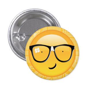 Emoji Totally Techie ID229 1 Inch Round Button