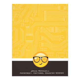 Emoji Totally Techie ID229 Letterhead Template