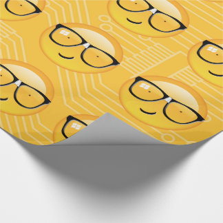 Emoji Totally Techie ID229 Wrapping Paper