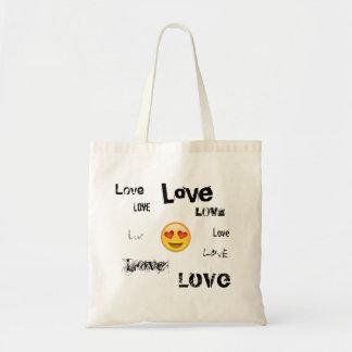 Emoji tote bag brimming with LOVE