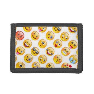 emoji trifold wallets