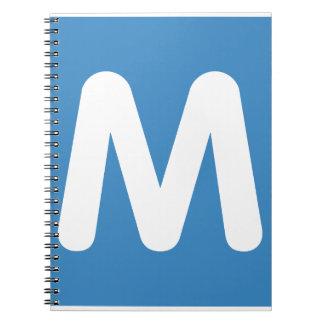 Emoji Twitter - Letter M Spiral Note Book