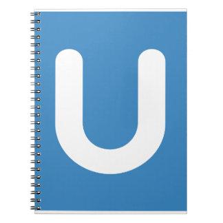 Emoji Twitter - Letter U Spiral Notebooks