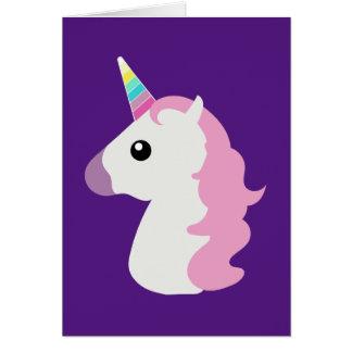 Emoji Unicorn Card