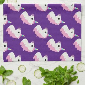 Emoji Unicorn Kitchen Towel