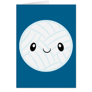 Emoji Volleyabll Card