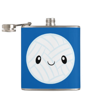 Emoji Volleyabll Hip Flask