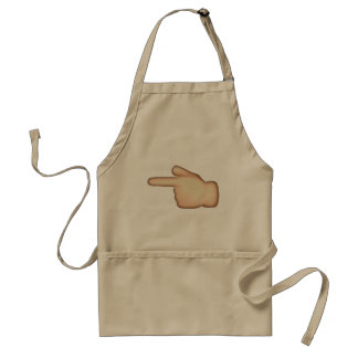 Emoji - White Left Pointing Backhand Index Standard Apron