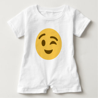 Emoji Wink Baby Romper