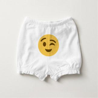 Emoji Wink Diaper Cover