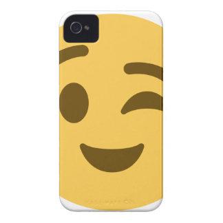 Emoji Wink iPhone 4 Cases