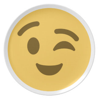 Emoji Wink Party Plate