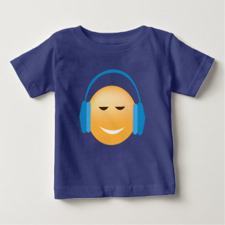 Emoji With Headphones Baby T-Shirt