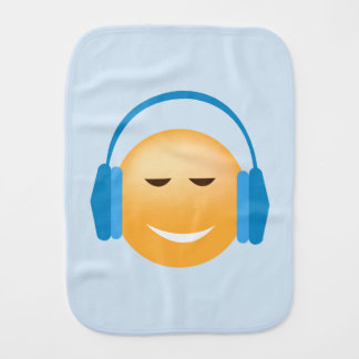 Emoji With Headphones Burp Cloth