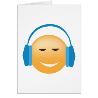 Emoji With Headphones Card