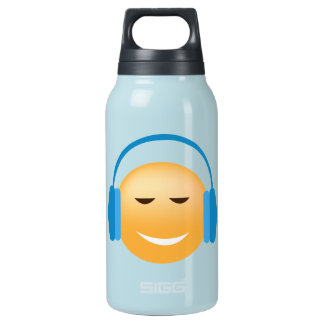 Emoji With Headphones Insulated Water Bottle