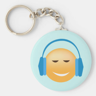 Emoji With Headphones Keychain