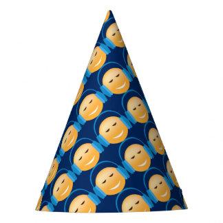 Emoji With Headphones Party Hat
