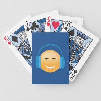 Emoji With Headphones Playing Cards
