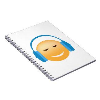 Emoji With Headphones Spiral Notebooks