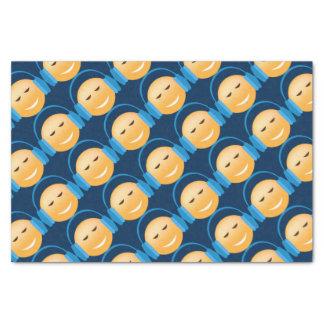 Emoji With Headphones Tissue Paper
