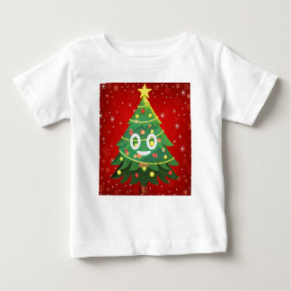 Emoji Xmas Tree Design Baby T-Shirt